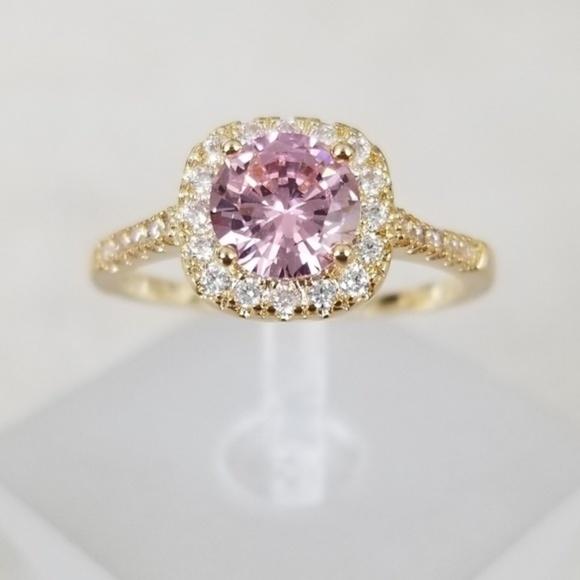 18k Over Sterling Pink Ring